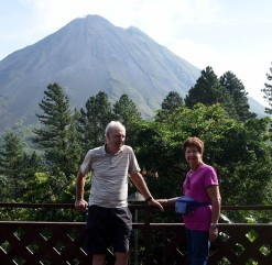 at the volcano